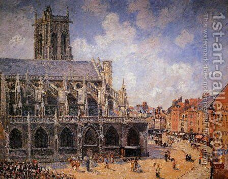 The Church of St Jacques in Dieppe, Morning Sun, 1901 by Camille Pissarro - Reproduction Oil Painting