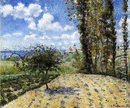 View Towards Pontoise Prison, in Spring, 1881 by Camille Pissarro - Reproduction Oil Painting