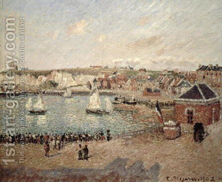 The Outer Harbour at Dieppe, 1902 by Camille Pissarro - Reproduction Oil Painting