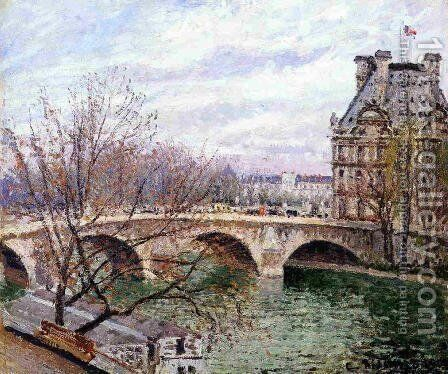 The Pont-Royal and the Pavillon de Flore, 1903 by Camille Pissarro - Reproduction Oil Painting