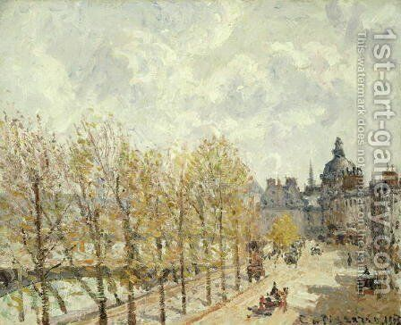 The Malaquais Quay in the Morning, Sunny Weather, 1903 by Camille Pissarro - Reproduction Oil Painting