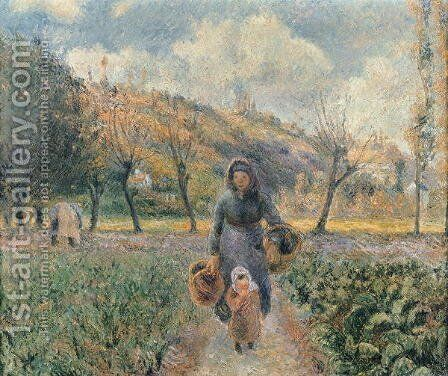 In the Garden by Camille Pissarro - Reproduction Oil Painting
