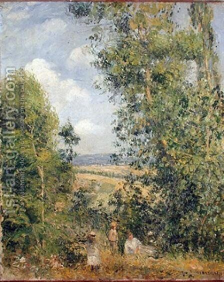 A Rest in the Meadow, 1878 by Camille Pissarro - Reproduction Oil Painting