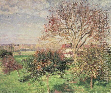 Autumn morning at Eragny, 1897 by Camille Pissarro - Reproduction Oil Painting