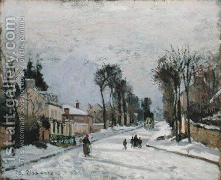 The Versailles Road at Louveciennes, 1869 by Camille Pissarro - Reproduction Oil Painting