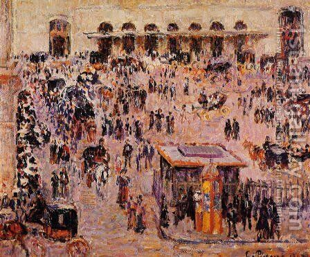 Cour du Havre (Gare St. Lazare) 1893 by Camille Pissarro - Reproduction Oil Painting