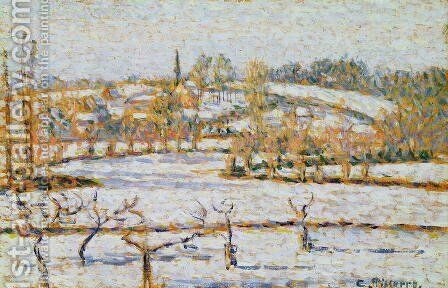 Effect of Snow at Eragny, c.1886 by Camille Pissarro - Reproduction Oil Painting