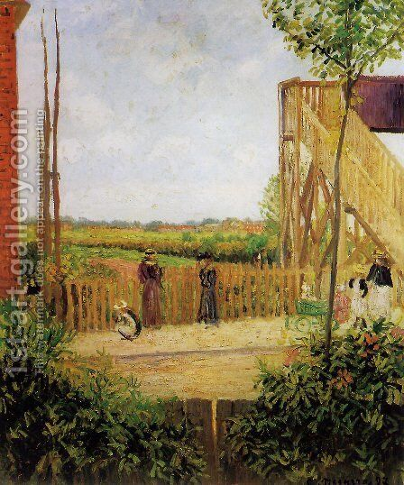 The Footbridge, Bath Road, Bedford Park, 1897 by Camille Pissarro - Reproduction Oil Painting
