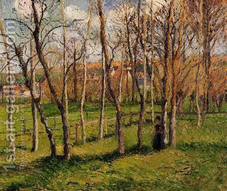 Meadow at Bazincourt, 1885 by Camille Pissarro - Reproduction Oil Painting