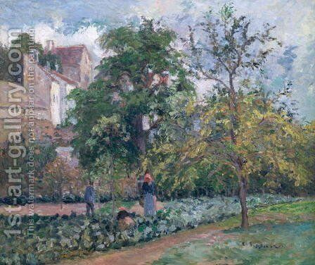 Orchard at Maubisson, Pontoise, 1876 by Camille Pissarro - Reproduction Oil Painting