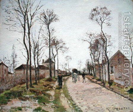 The Road to Saint Cyr at Louveciennes, c.1870 by Camille Pissarro - Reproduction Oil Painting