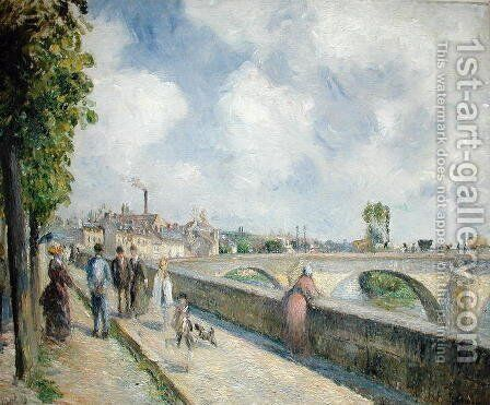 The Bridge at Pontoise, 1878 by Camille Pissarro - Reproduction Oil Painting