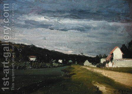 Landscape with Stormy Sky, 1864 by Camille Pissarro - Reproduction Oil Painting