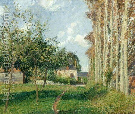 Varengeville, the Manor Inn, Afternoon, 1889 by Camille Pissarro - Reproduction Oil Painting