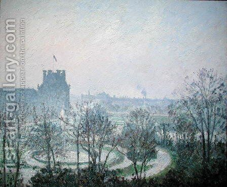 White Frost, Jardin des Tuileries, 1900 by Camille Pissarro - Reproduction Oil Painting