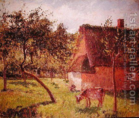 Field at Varengeville, 1899 by Camille Pissarro - Reproduction Oil Painting