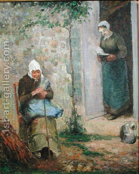 Charity, 1876 by Camille Pissarro - Reproduction Oil Painting