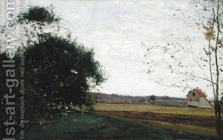 Landscape, c.1865 by Camille Pissarro - Reproduction Oil Painting