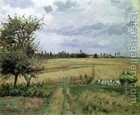 Landscape at Pontoise by Camille Pissarro - Reproduction Oil Painting