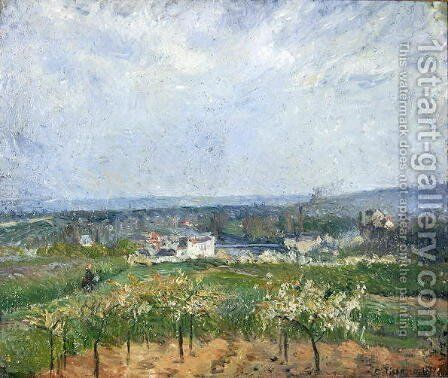 Landscape in Pontoise, 1877 by Camille Pissarro - Reproduction Oil Painting
