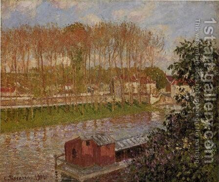 Sunset at Moret-sur-Loing, 1901 by Camille Pissarro - Reproduction Oil Painting