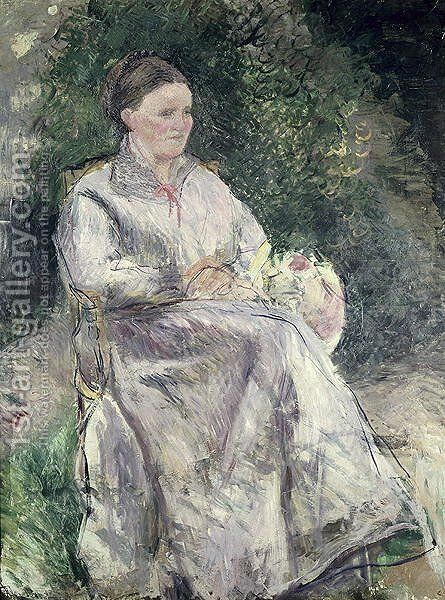 Portrait of Julie Velay, Wife of the Artist, c.1874 by Camille Pissarro - Reproduction Oil Painting