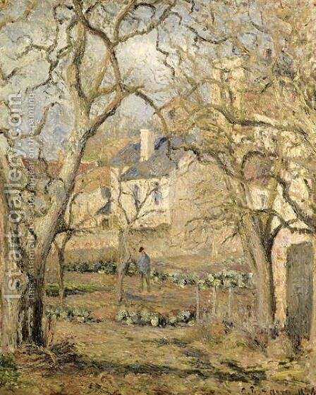 The Vegetable Garden, 1878 by Camille Pissarro - Reproduction Oil Painting