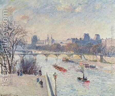 The Louvre, 1902 by Camille Pissarro - Reproduction Oil Painting