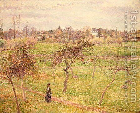 The Meadow at Eragny, 1894 by Camille Pissarro - Reproduction Oil Painting