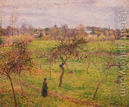White Frost at Eragny, 1895 by Camille Pissarro - Reproduction Oil Painting