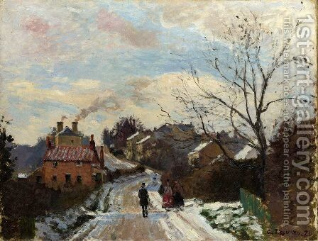 Fox hill, Upper Norwood, 1870 by Camille Pissarro - Reproduction Oil Painting