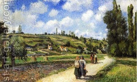 Landscape near Pontoise, the Auvers Road, 1881 by Camille Pissarro - Reproduction Oil Painting