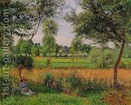 Morning, Sunlight Effect, Eragny, 1899 by Camille Pissarro - Reproduction Oil Painting