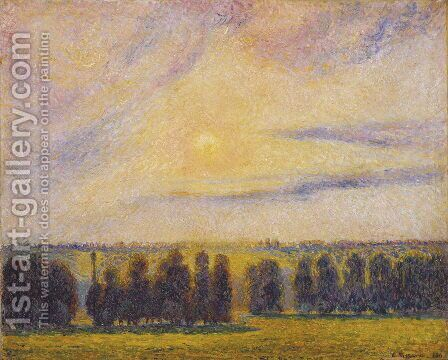 Sunset at Eragny, 1890 by Camille Pissarro - Reproduction Oil Painting