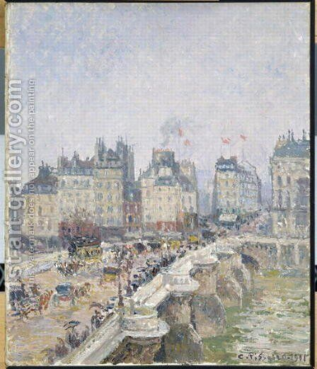 Pont Neuf, Paris, 1901 by Camille Pissarro - Reproduction Oil Painting