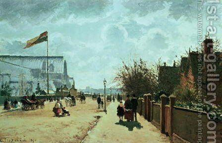 The Crystal Palace, London, 1871 by Camille Pissarro - Reproduction Oil Painting