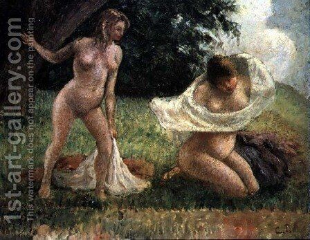 The Bathers by Camille Pissarro - Reproduction Oil Painting