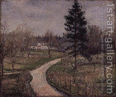 The Chateau at Busagny, Osny, 1884 by Camille Pissarro - Reproduction Oil Painting