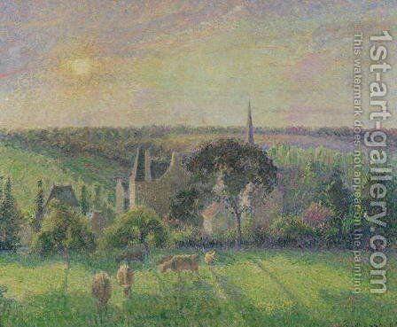 The Church and Farm of Eragny, 1895 by Camille Pissarro - Reproduction Oil Painting