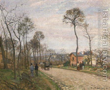 The Road from Louveciennes, 1870 by Camille Pissarro - Reproduction Oil Painting
