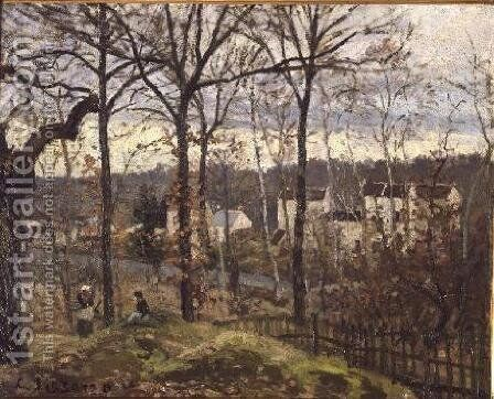 Winter Landscape at Louveciennes, c.1870 by Camille Pissarro - Reproduction Oil Painting