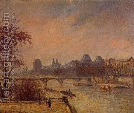 The Seine and the Louvre, 1903 by Camille Pissarro - Reproduction Oil Painting
