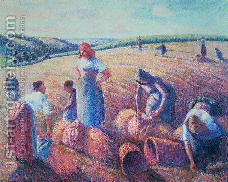 Women Haymaking, 1889 by Camille Pissarro - Reproduction Oil Painting
