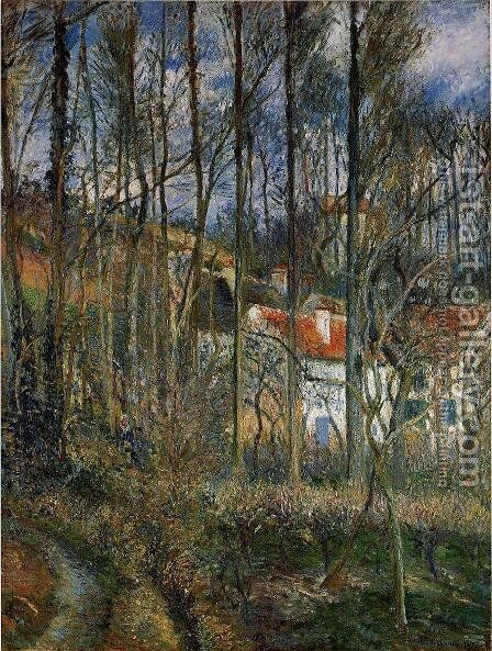 The Cote des Boeufs at L'Hermitage, Pontoise, 1877 by Camille Pissarro - Reproduction Oil Painting