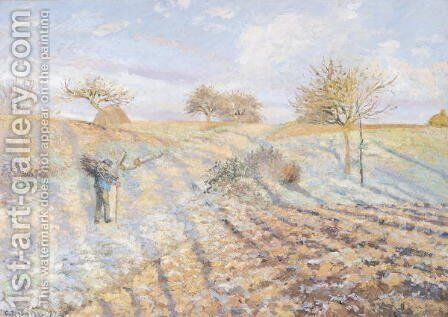 White Frost, 1873 by Camille Pissarro - Reproduction Oil Painting