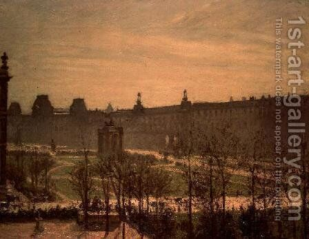 The Tuileries, 1899 by Camille Pissarro - Reproduction Oil Painting