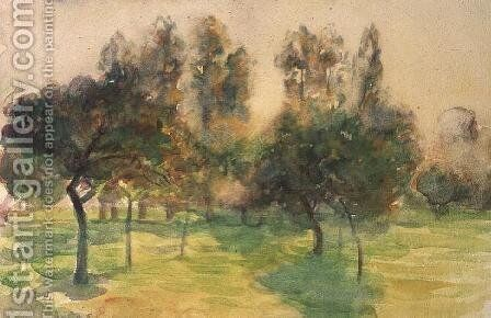 An Orchard, Eragny, 1890 by Camille Pissarro - Reproduction Oil Painting