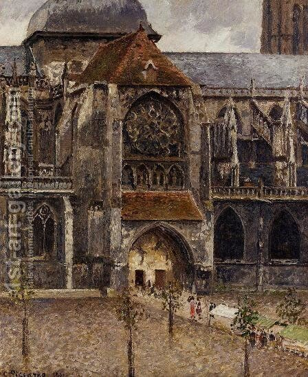 Portal of the Church of St. Jacques, Dieppe, 1901 by Camille Pissarro - Reproduction Oil Painting