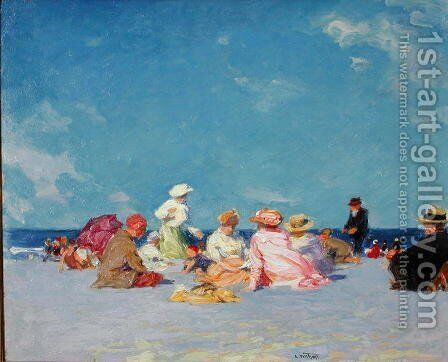 Afternoon Fun, c.1907-27 by Edward Henry Potthast - Reproduction Oil Painting