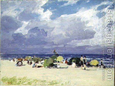 Purple Beach Scene by Edward Henry Potthast - Reproduction Oil Painting